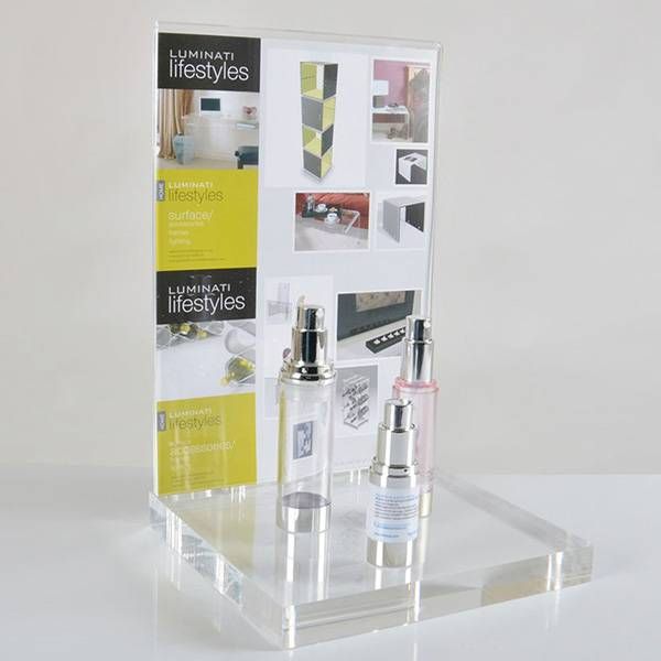 Simple Clear Acrylic Cosmetic Display