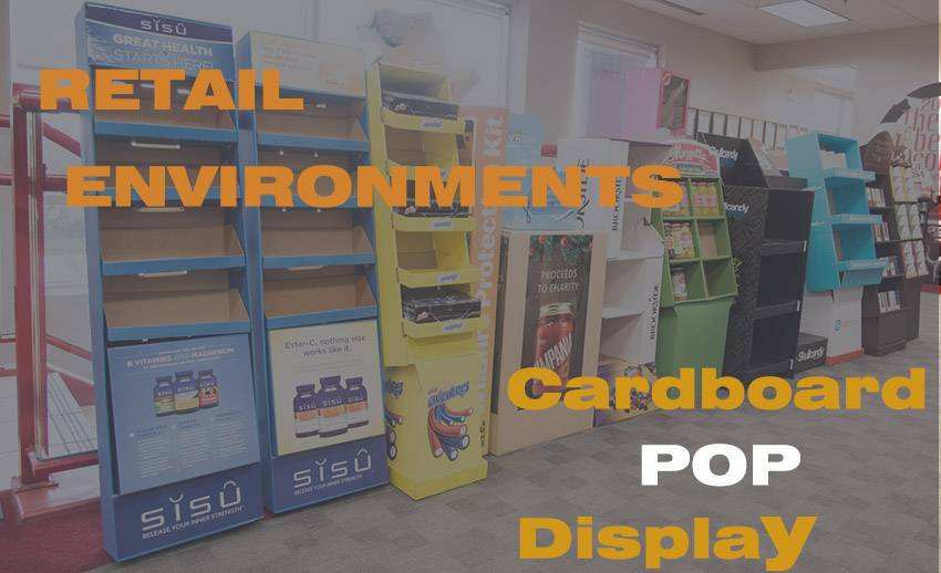 Elegant Promotional Cardboard POP Display Boxes and Floor Standing Display Units