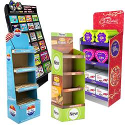 Cardboard Retail Floor Display Stand