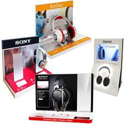 Headphone Retail POS Display Stand
