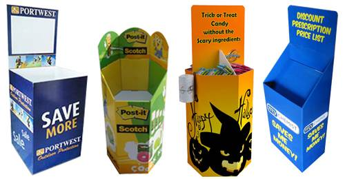 POS Retail Cardboard Dump Bins
