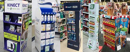 POS Retail Cardboard Floor Stand Displays