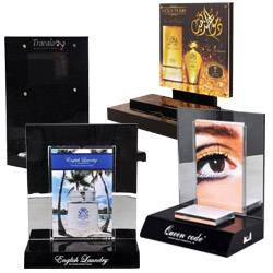 commercial acrylic perfume display stand