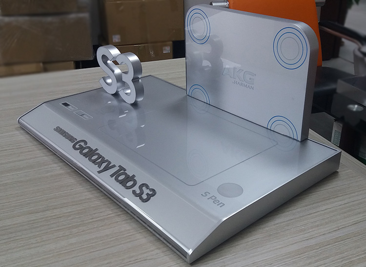 Samsung Tab S3 Silver Acrylic Lighted Display Stand