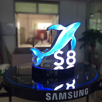 Samsung S8 Retail Store Acrylic LED Light Display Stand