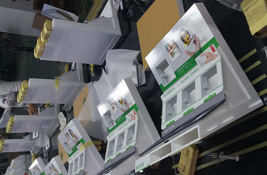 Schneider Electric Acrylic Retail Counter Display Fixtures