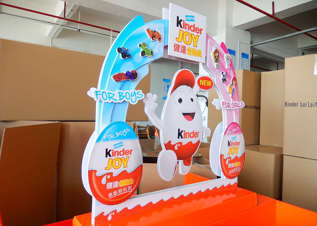 Kinder Retail Stores POS Display Shelves