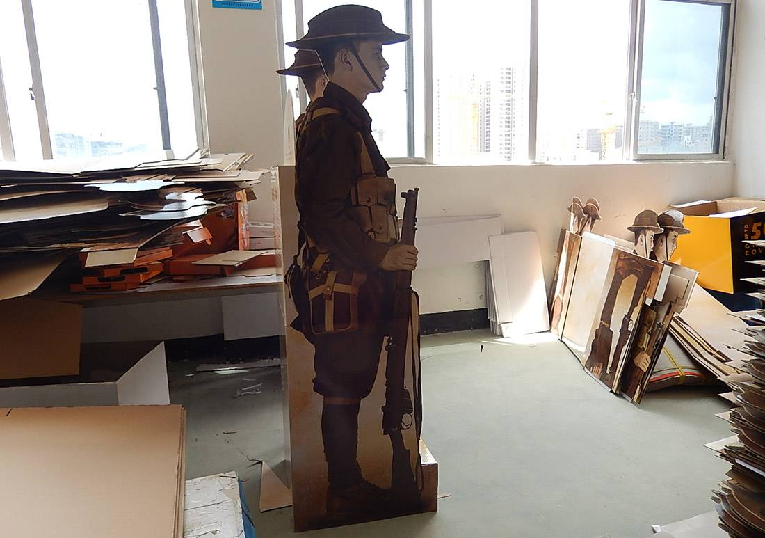 Australia in The Great War Retail Corrugated Cardboard Display Stands