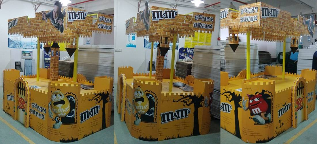 M&M's Chocolate POS Retail Corrugated Cardboard Display Stands