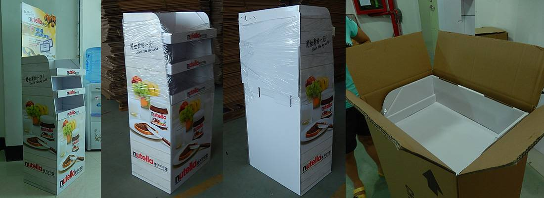 Nutella Nutrition POS Retail Cardboard Floor Display Stand