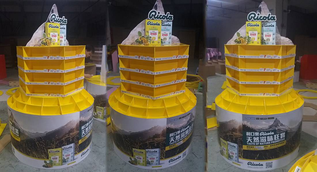 Ricola Point of Sale Retail Display Solutions