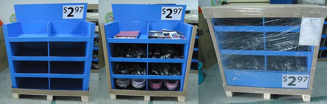 Walmart Point of Sale Cardboard Pallet Display