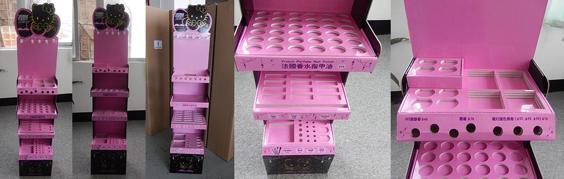 Hello Kitty Cosmetic POS Retail Floor Display Stand