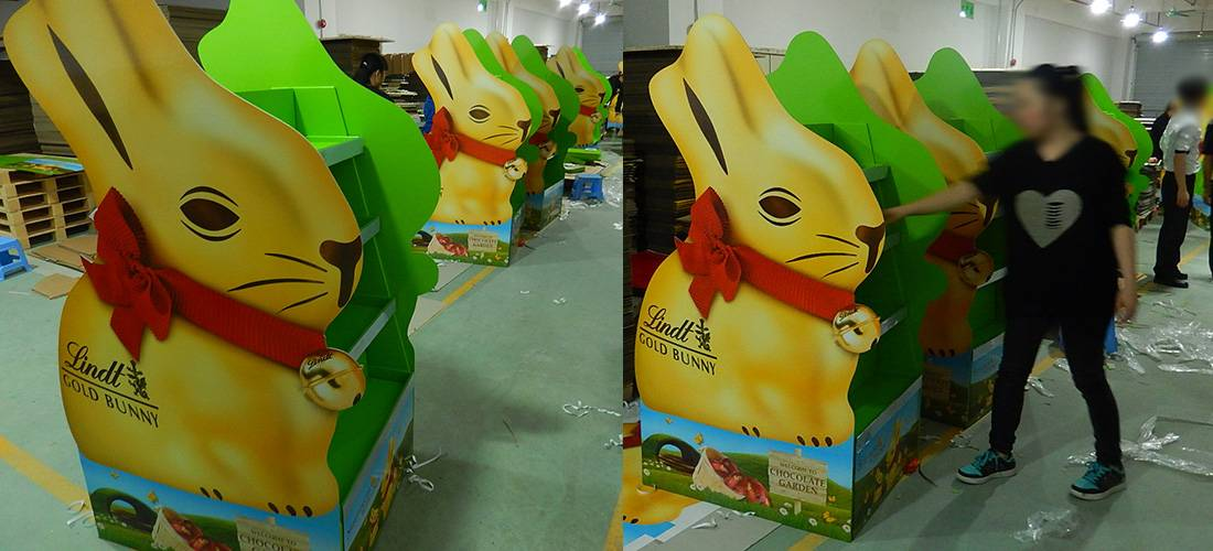 Lindt Chocolate Easter Promotion POS Retail Corrugated Mega Display