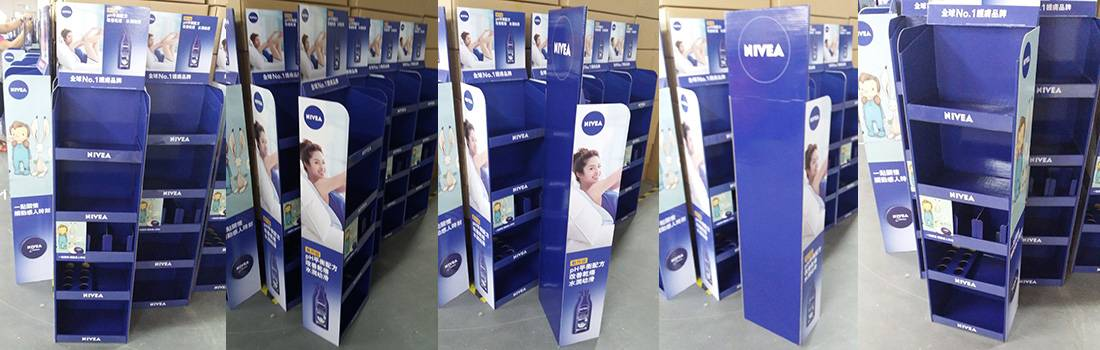 Nivea stock corrugated displays
