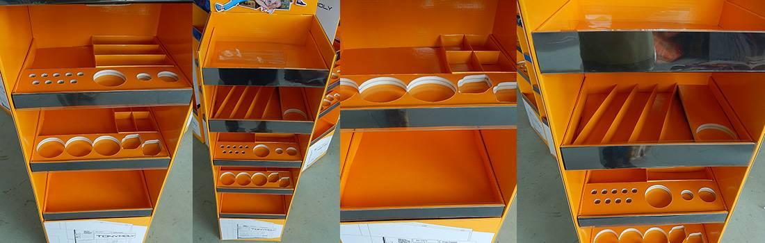 TonyMoly Korean Cosmetics Cardboard Floor Display Stand