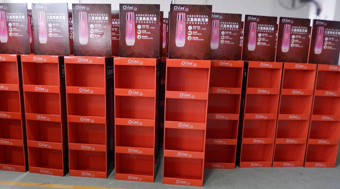 POS Retail Cardboard Display Stand Production Workshop