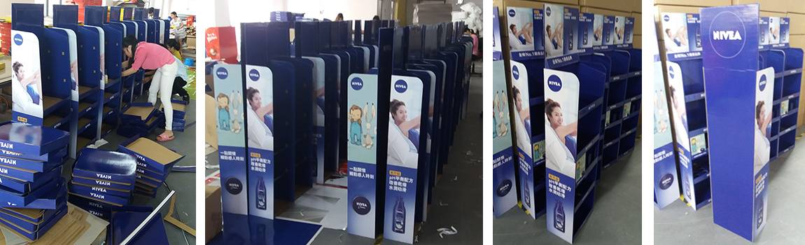 Nivea Men Point Of Purchase Floor Display Production Workshop