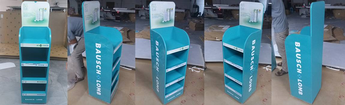 Bausch + Lomb Wooden Display Racks