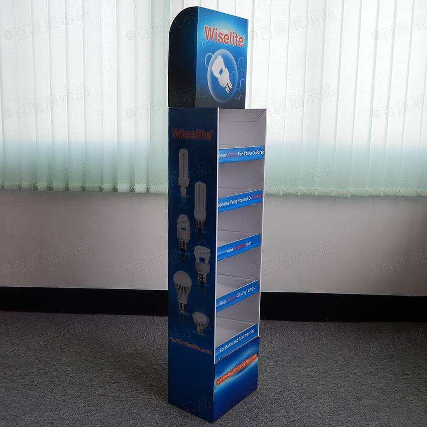 Creative Cardboard Floor Display Stand for Led Promotion