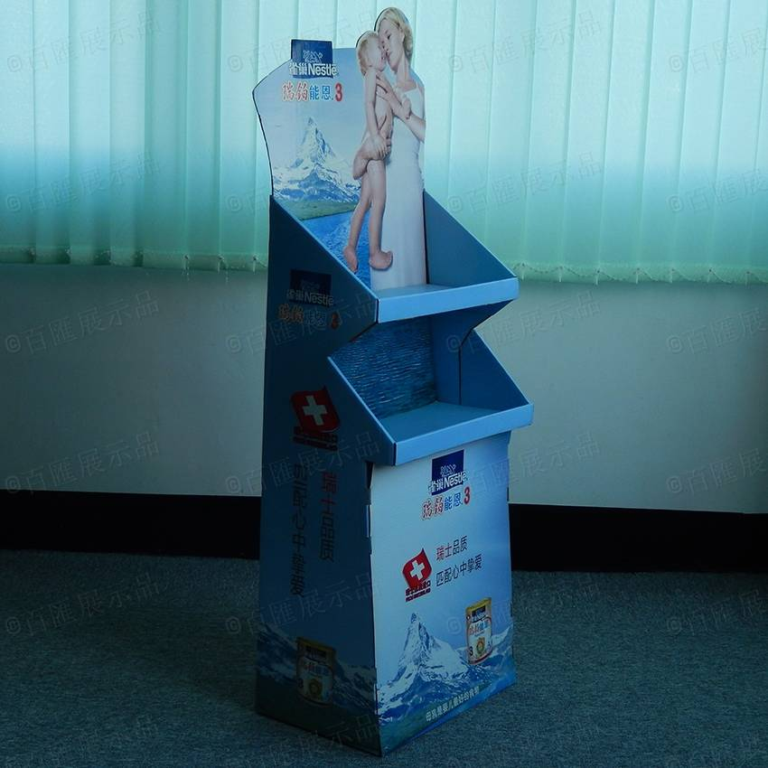 POS Cardboard Display Stand for Nestle Milk Powder