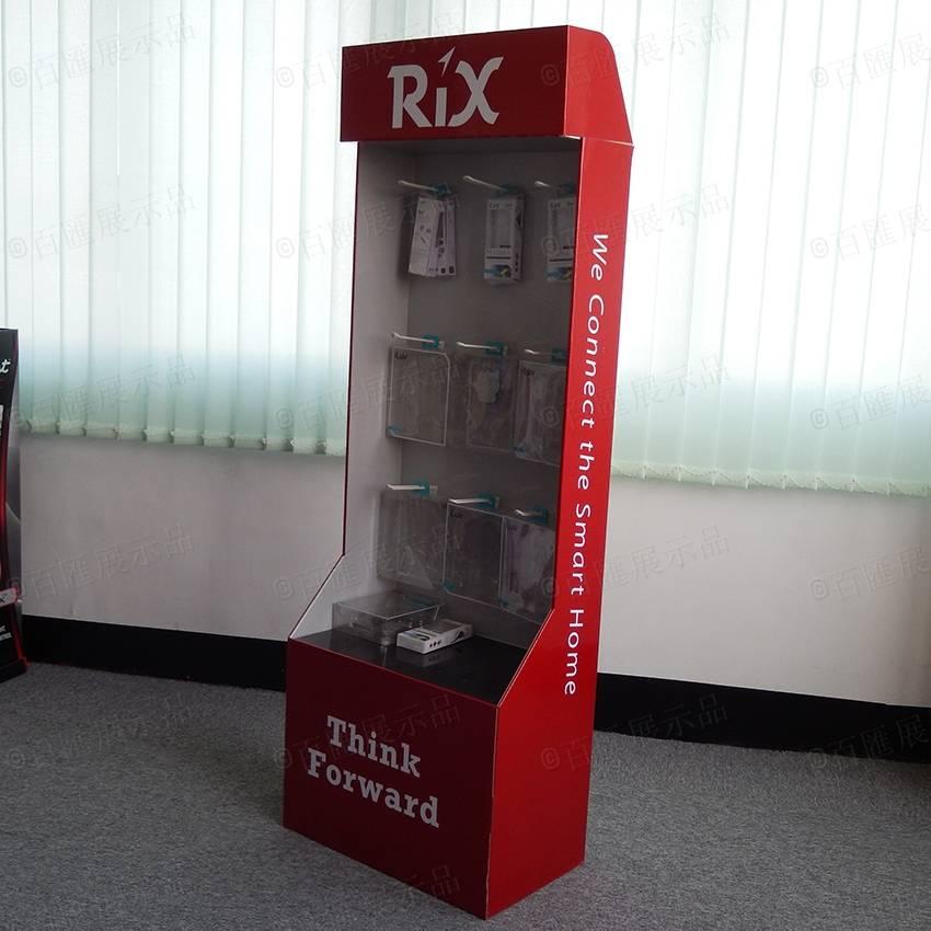 Cell Phone Accessory Cardboard Hook Display Rack