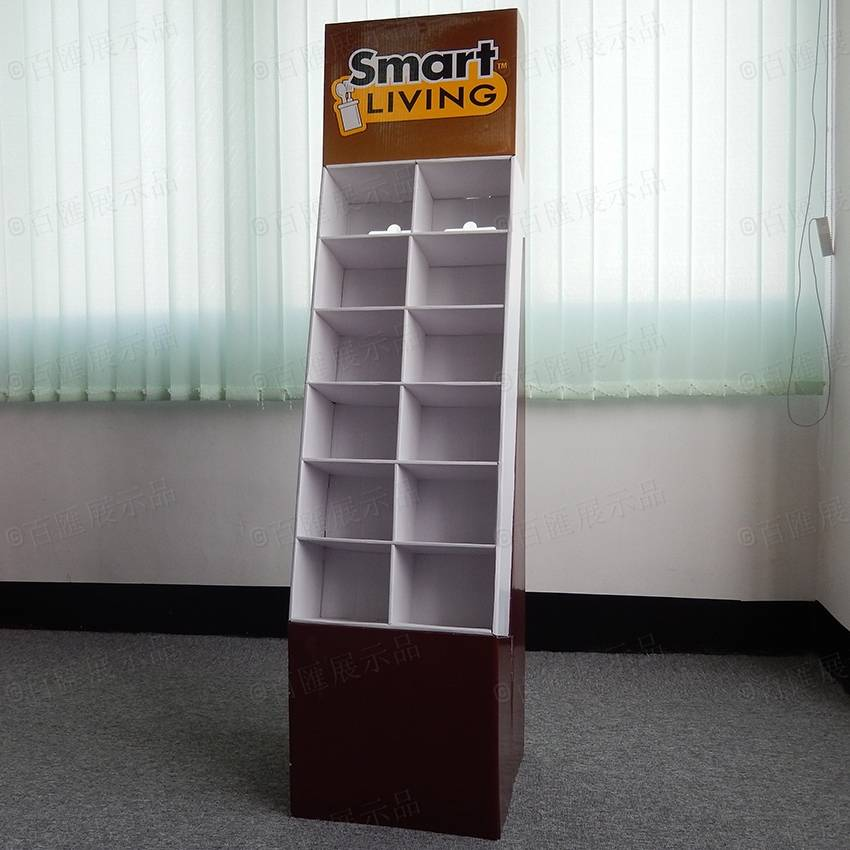 POS Corrugated Supermarket Cardboard Display  for Tableware Products