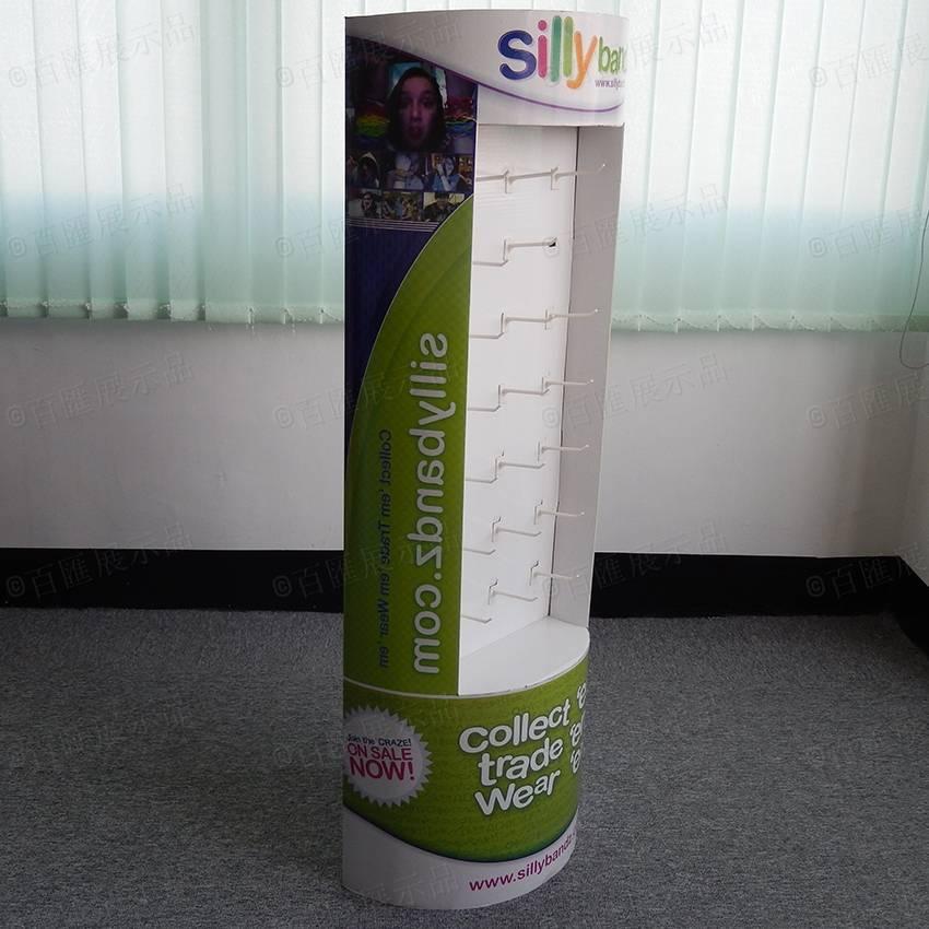 Semi-Circle Free Floor Standing Cardboard POS Display