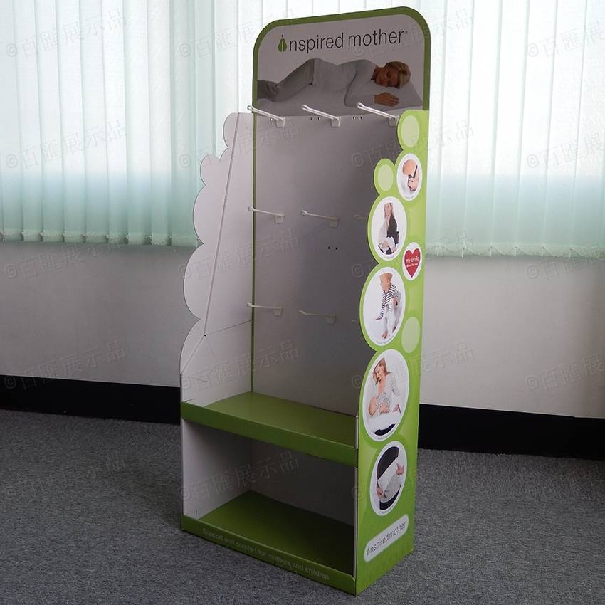 Advertising Promotional Corrugated Cardboard Retail Floor Display Stand
