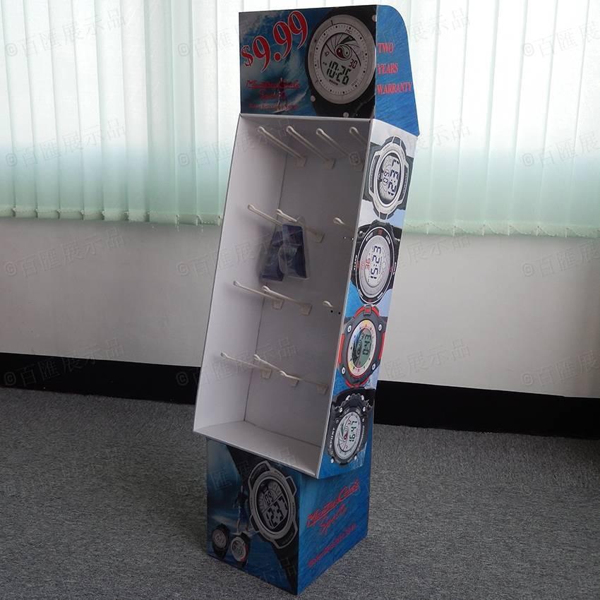 Corrugated Cardboard Floor Watchs Display Stand