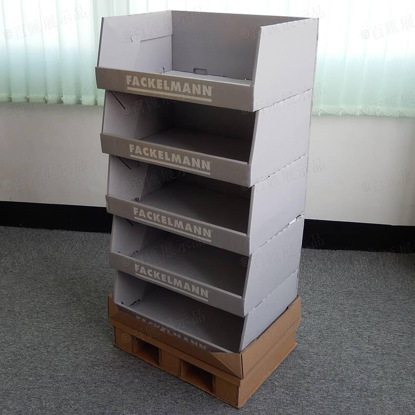 Retail Corrugated Cardboard Half Pallet Display