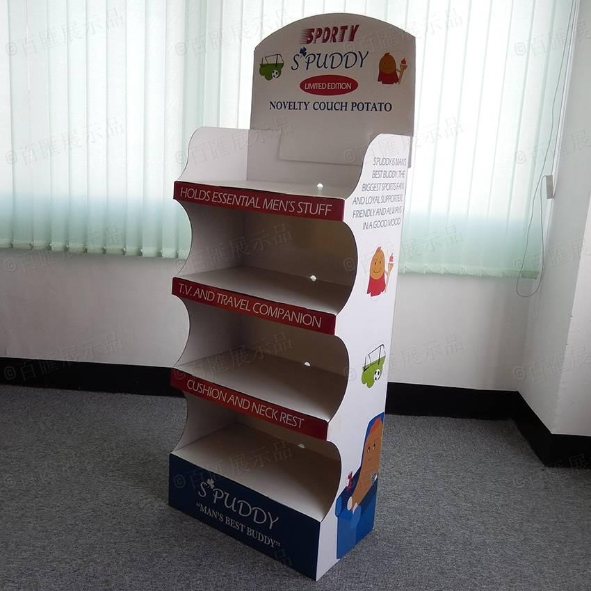CMYK Printing Advertising Cardboard End Cap Display Rack