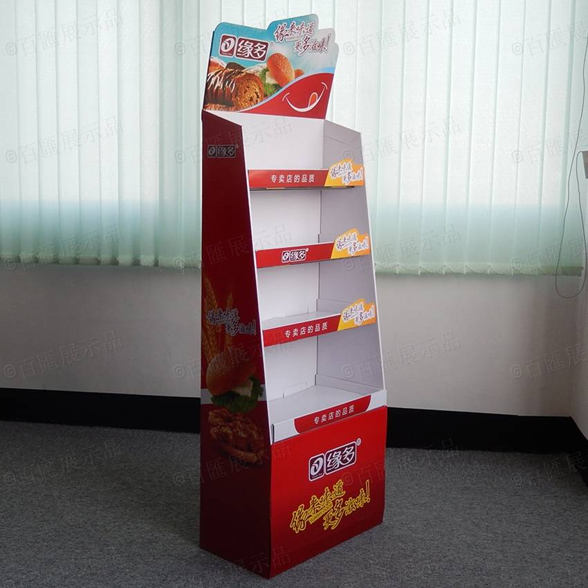 Cardboard Floor Display Rack for Supermarket Promotion