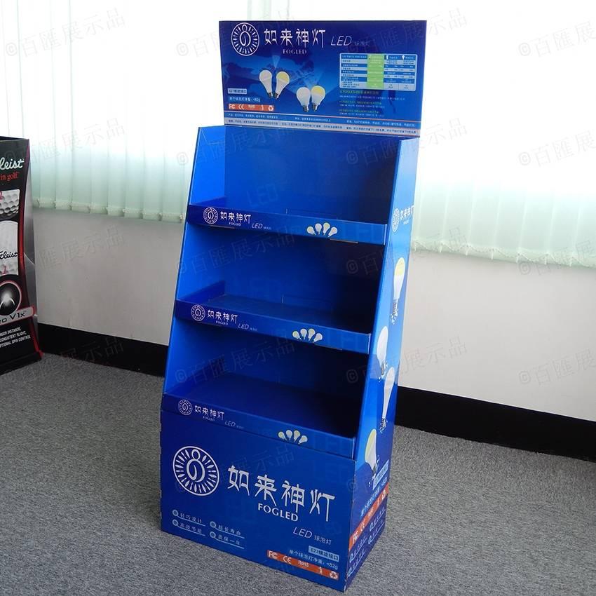 Floor Standing Lamp Products Cardboard Display Rack