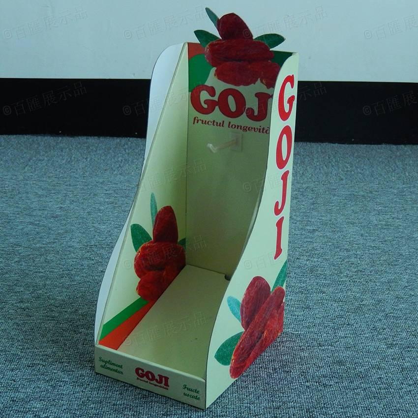 Goji Berry Cardboard Counter Top Display Rack