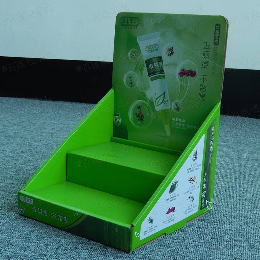 Retail Store Cardboard Tabletop Counter Display for Cosmetic