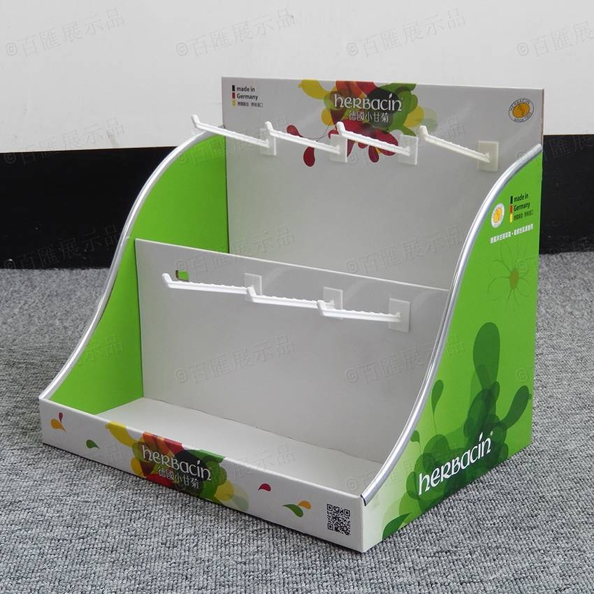 Herbacin lip balm Peg Hook PDQ Counter Display