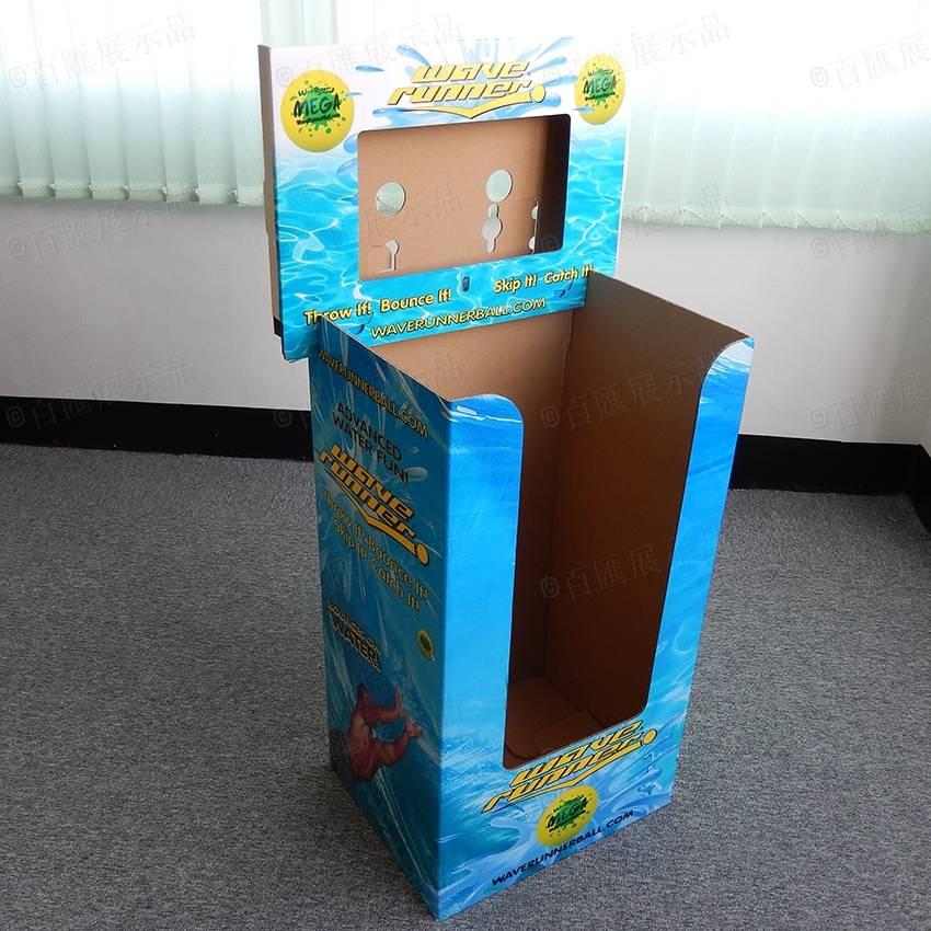 Cardboard Merchandising Display Dump Bins Cardboard Display Bin for Retail Display