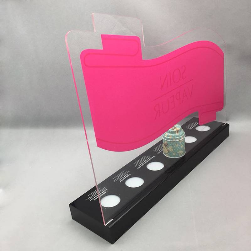 Acrylic LED Bottle Display Stand