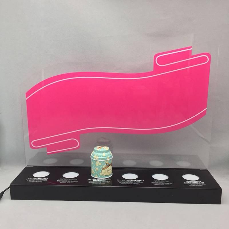 Acrylic LED Bottle Display Stand