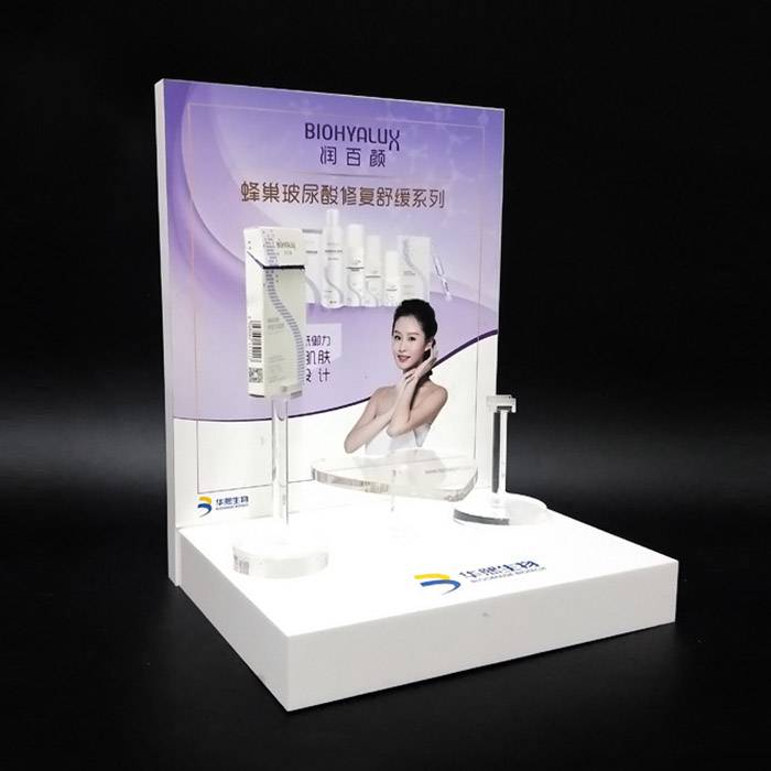 Skin Care Product POS Counter Display Stand