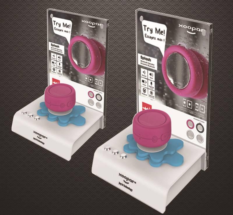 Xoopar Retail POP Counter Speaker Display Stand