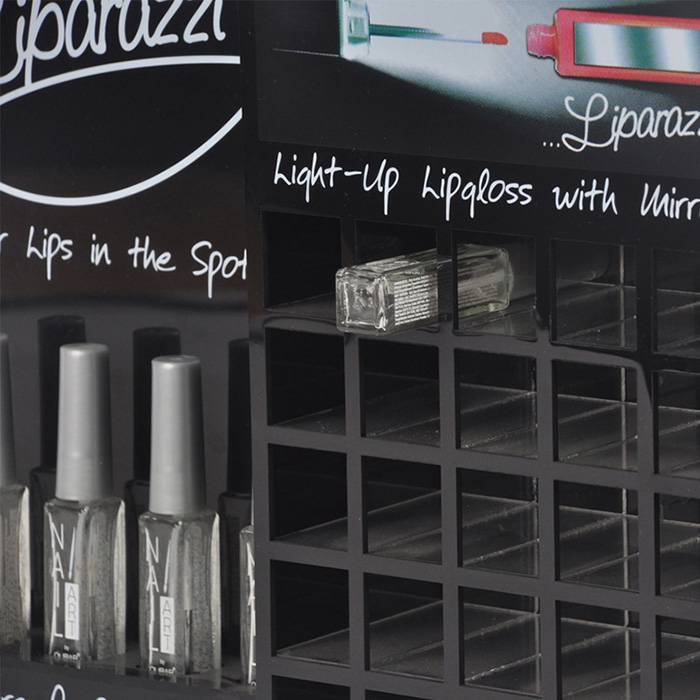 Liparazzi Lip Gloss Retail Counter Display Stand