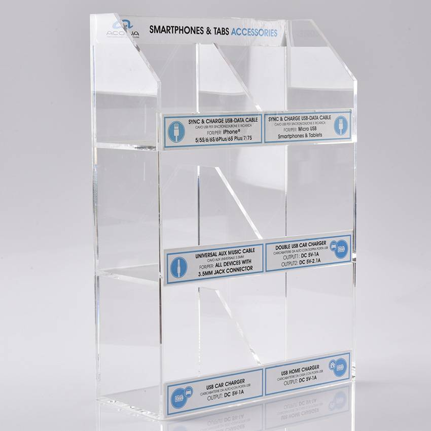 Supermarket Acrylic Floor Advertising Display Case