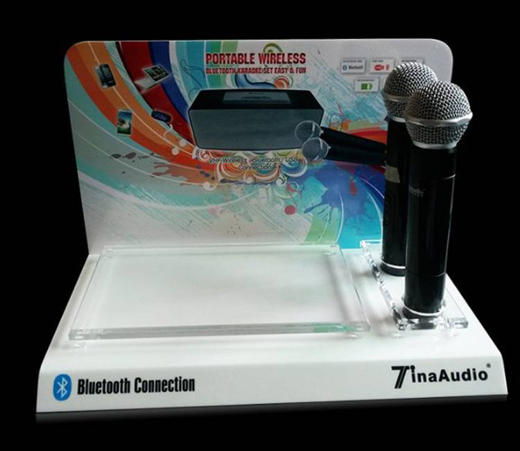 Singing Advertising Acrylic Promotion Display Stand