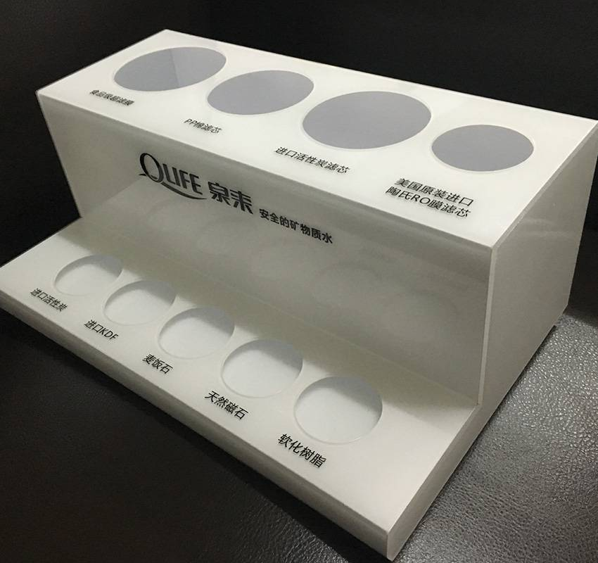 Water Filter Purifier Counter Acrylic Display Rack
