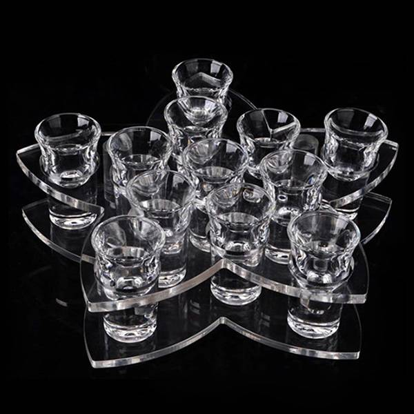 12 Cup Tabletop Acrylic Wine Glass Cup Holder