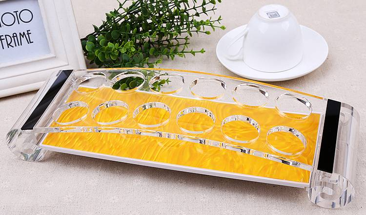 12 Holes Acrylic Buffet Drink Rack, Drinks Cup Display Stand XH53-4
