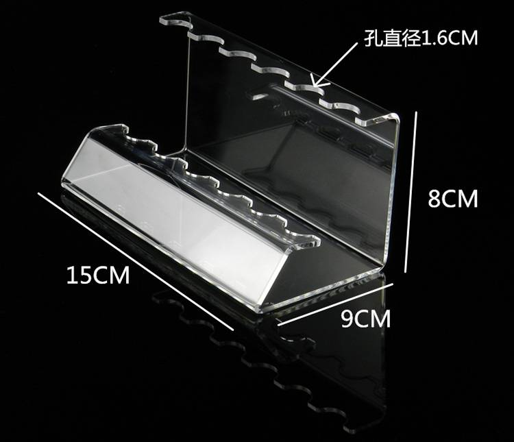 6/12 Pen Vertical Premium Clear Acrylic Pen Display Stand