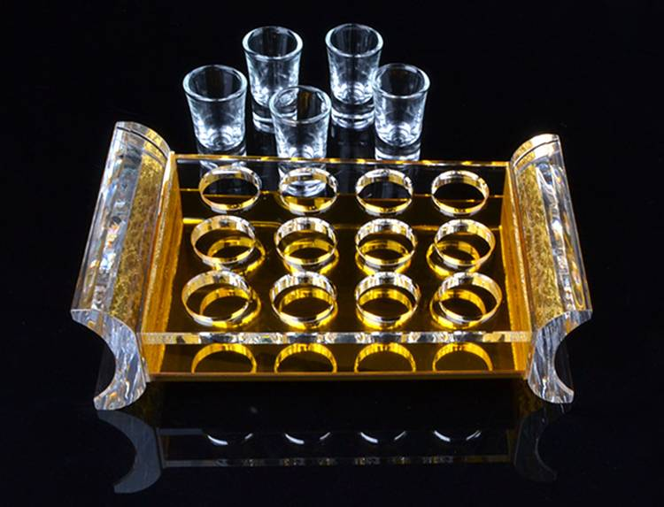 12 Round Holes Clear Acrylic Wine Cup Display Stand Holder XH54-1